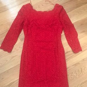 Formal Red Lace Dress
